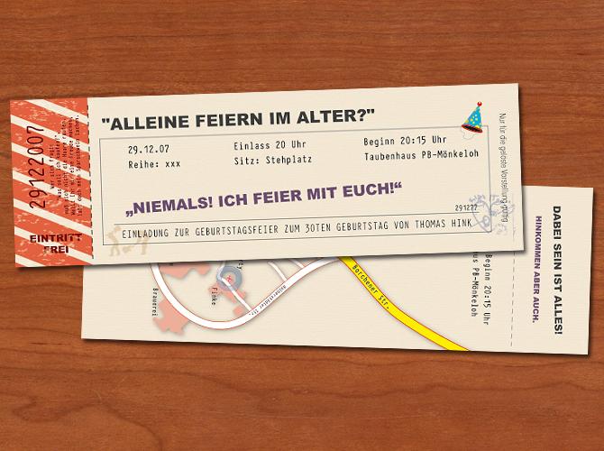 Einladungskarte Heimspiel – Jeder Geburtstag ist ein Heimspiel!