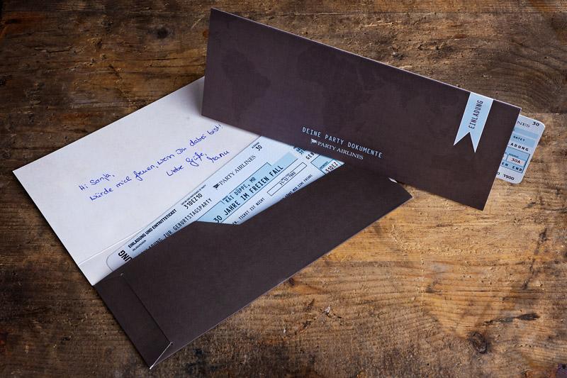 Flugticket-Mappen für Einladungskarten - vollstark.de ...