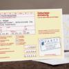 Gelber Schein als Einladungskarte