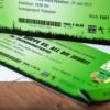 Fussball Ticket als Einladungskarte