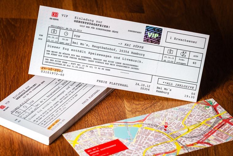 Fahrkarte Als Einladung (Die Originale)