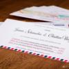 LoveMail Einladungskarte mit farbigem Kern