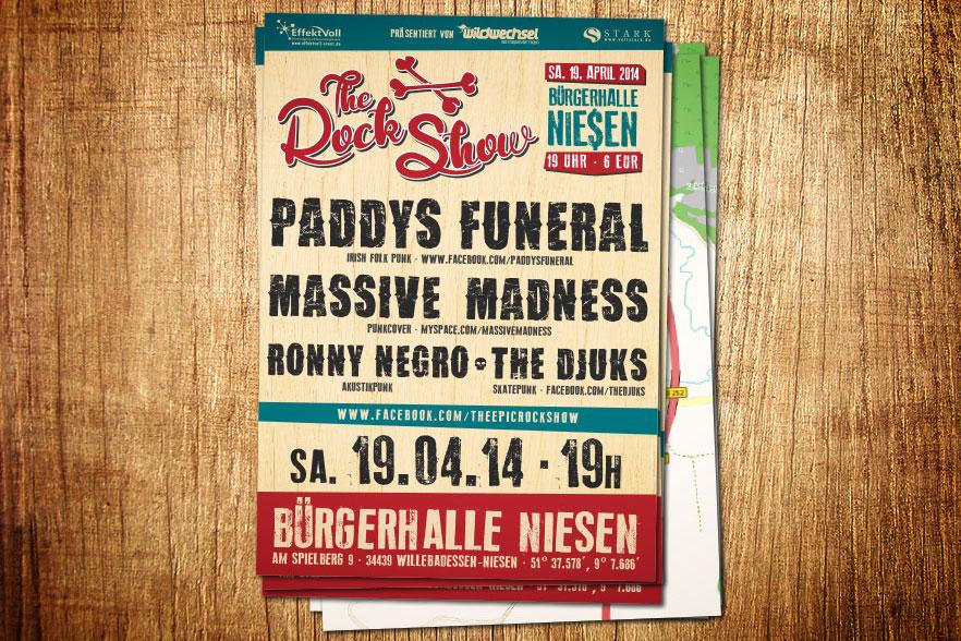 Konzertplakat The Rock Show