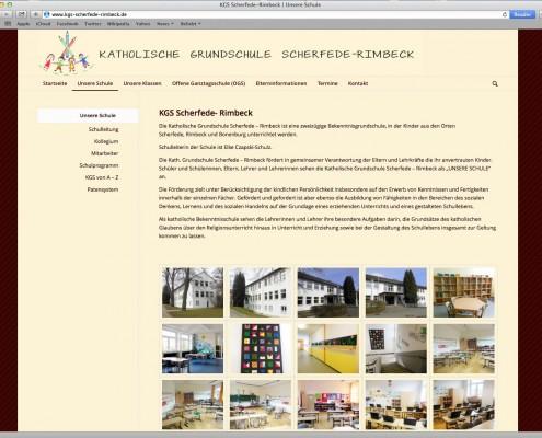 Screenshot der KGS Webseite