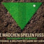 Einladungskarte : Frauenfussball! Echte Mädchen spielen Fussball! Einladung zur Gartenparty