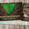 Einladungskarte : Wir sehen uns auf dem Platz! Einladung zur Gartenparty