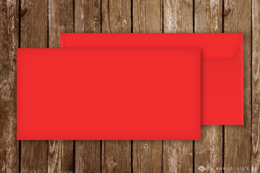 Briefumschläge für Einladungskarten, DinLang, rot
