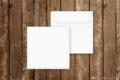 Briefumschlag quadratisch weiss