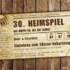Einladungskarte Heimspiel Vintage (Das Original)