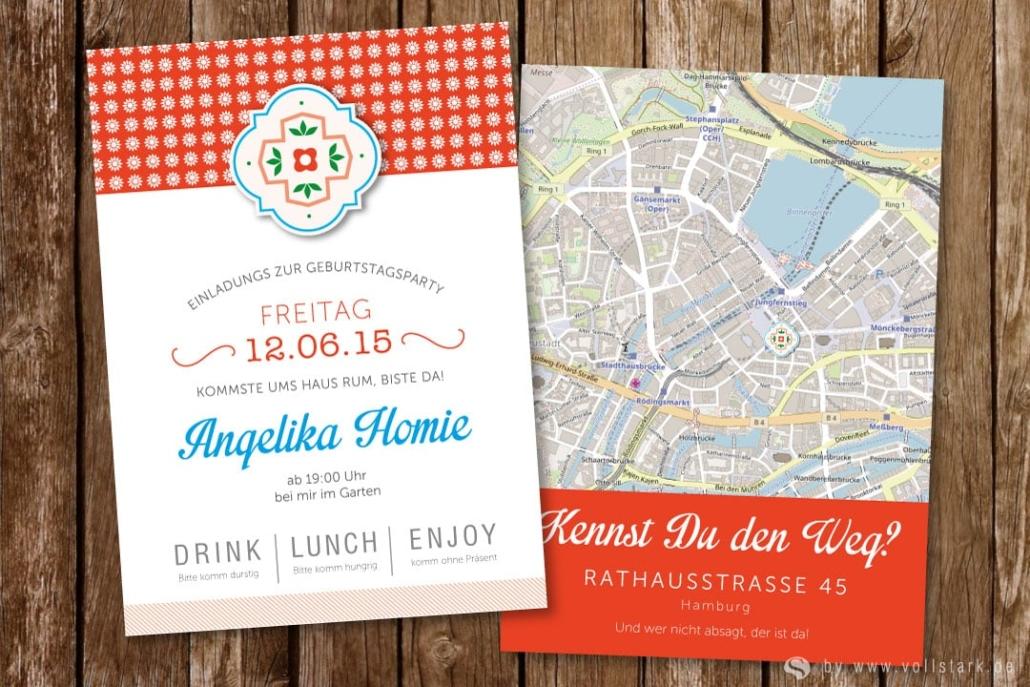 Einladungskarte Sweet Home