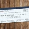 Konzertkarte als Einladungskarte – Rock my Birthday