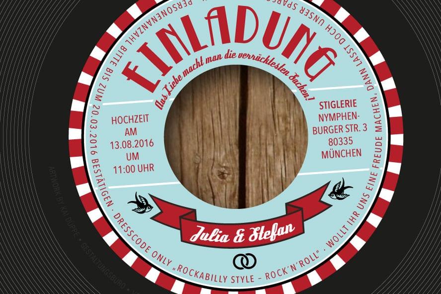 Schallplatte Als Einladungskarte