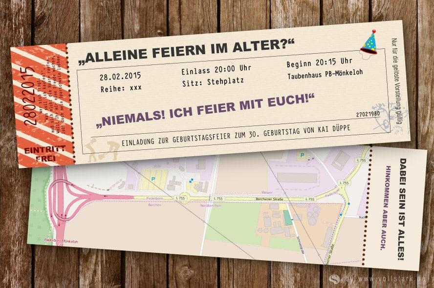 Angaben zur Kinokarte als Einladungskarte - vollstark.de ...