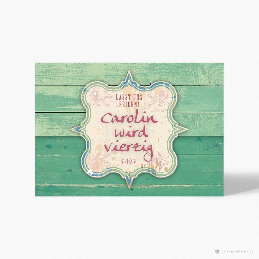 Einladungskarte Shabby Card