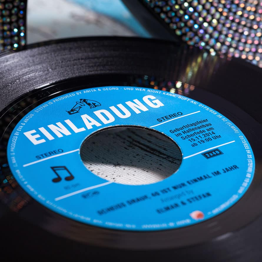 Vinyl Single Einladung