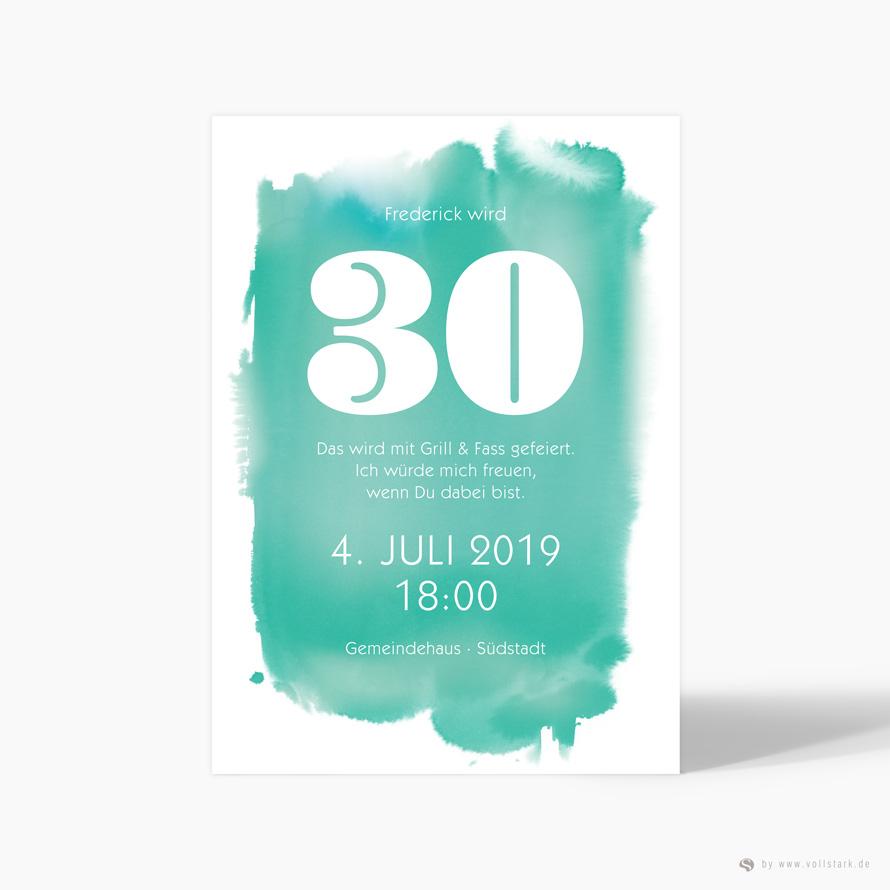 Einladungskarte Aquarell Agil