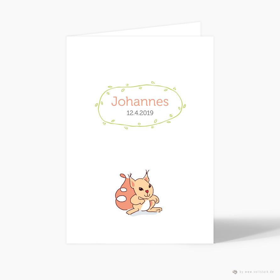 """Geburtskarte Danksagung """"Eichhörnchen"""""""