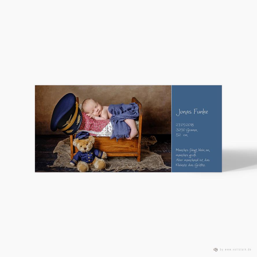 "Geburtskarte Danksagung ""Bilderwand"""