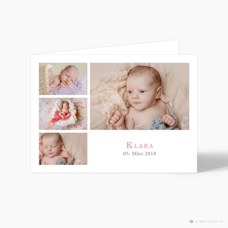 """Geburtskarte Danksagung """"Klara"""""""