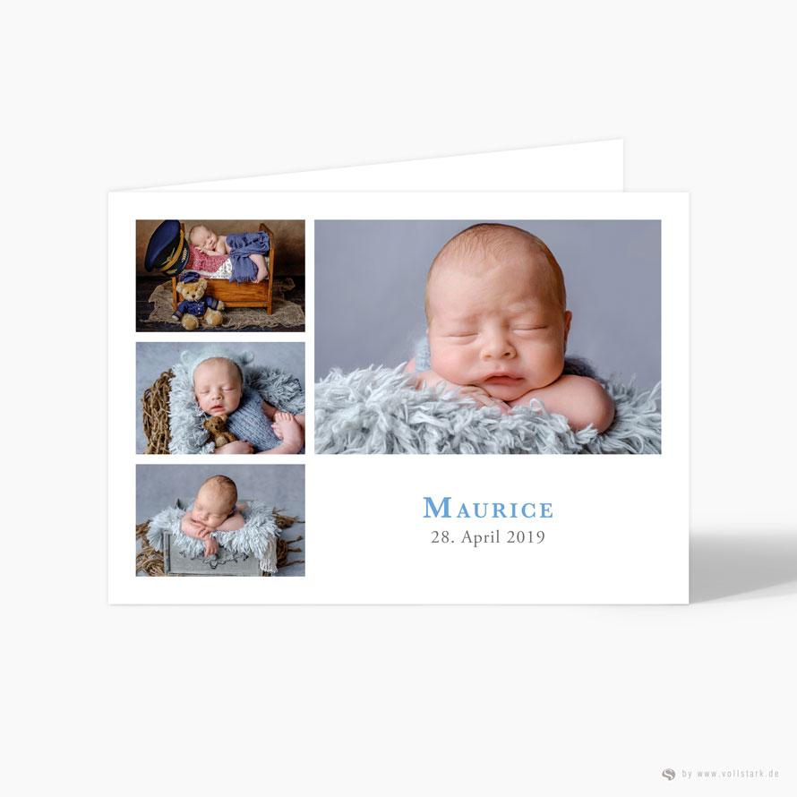 "Geburtskarte Danksagung ""Mister M"""