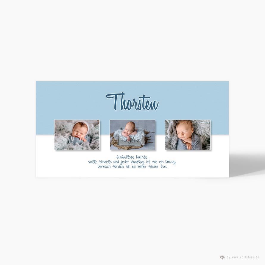 "Geburtskarte Danksagung ""Thorsten"""