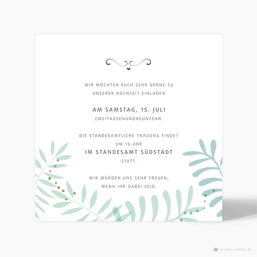 Hochzeitseinladung Green Jungle